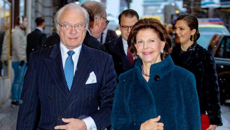 Carlos Gustavo y Silvia de Suecia en el seminario por el 75 cumpleaños de la Reina Silvia