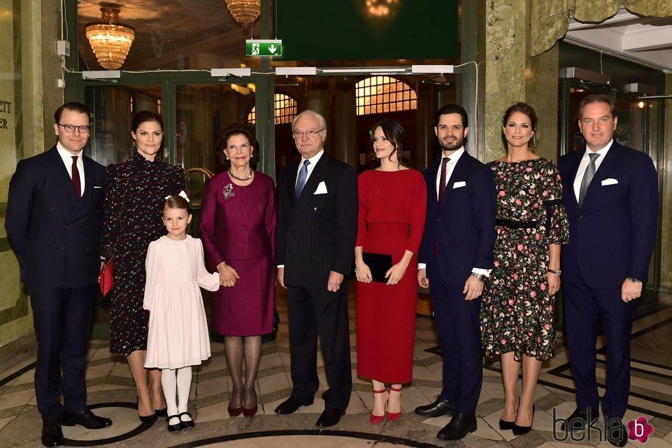La Familia Real Sueca en el seminario por el 75 cumpleaños de Silvia de Suecia