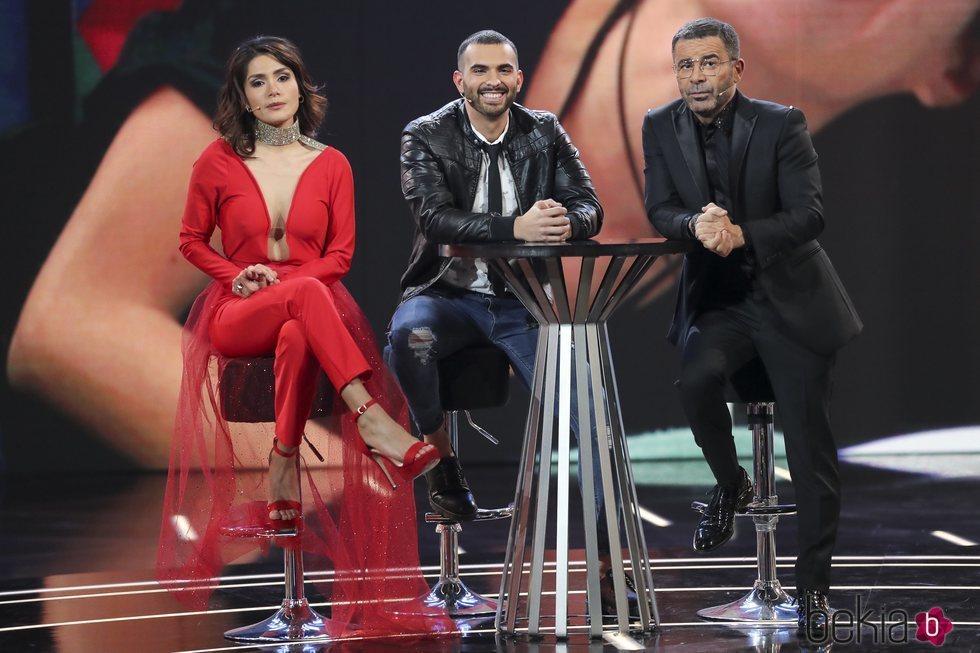 Miriam Saavedra, Suso y Jorge Javier Vázquez en la final de 'GH VIP'