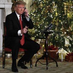 Donald Trump colabora en 'Santa Track'