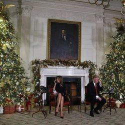 Donald Trump y Melania Trump en 'Santa Track'