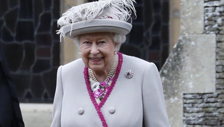 La Reina Isabel II en la Misa de Navidad 2018