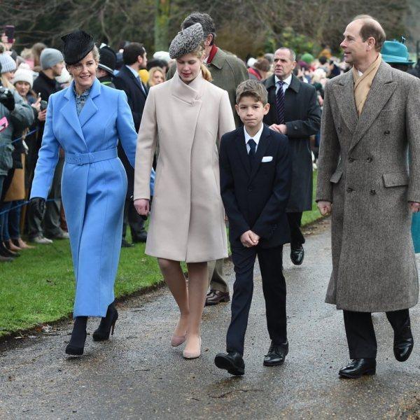 Familia Real británica en la Misa de Navidad 2018