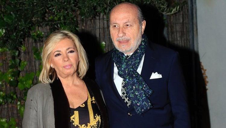 Carmen Borrego y su marido José Carlos Bernal celebrando la Nochebuena