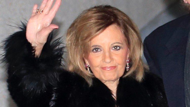 María Teresa Campos, sonriente en la cena de Nochebuena