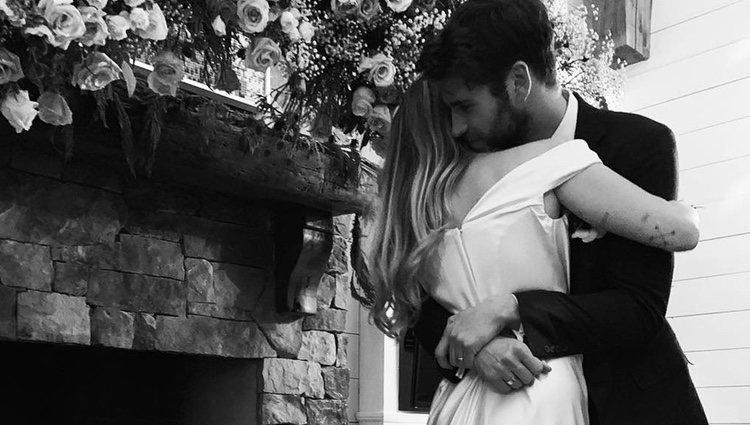 Miley Cyrus y Liam Hemsworth tras su boda