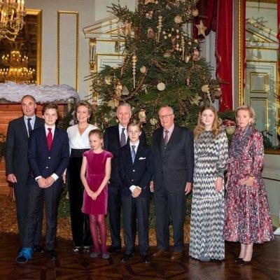La Familia Real de Bélgica en el tradicional Concierto Navideño celebrado en el Palacio Real de Bruselas