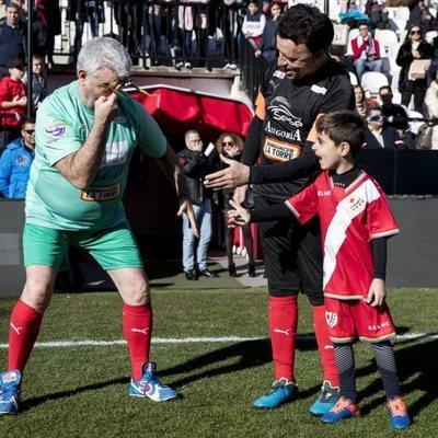 Millan Salcedo y Jose Ortega Cano en el Partido benéfico Artistas vs Famosos