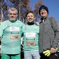 Millan Salcedo, José Mota y Josema Yuste en el Partido benéfico Artistas vs Famosos