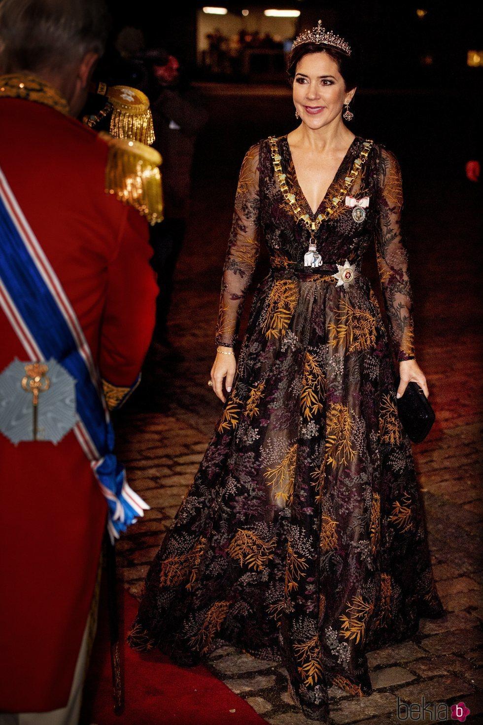 Mary de Dinamarca en la recepción de Año Nuevo 2019