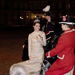 Marie de Dinamarca en la recepción de Año Nuevo 2019