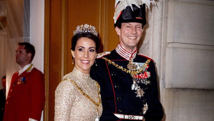 Joaquín y Marie de Dinamarca en la recepción de Año Nuevo 2019
