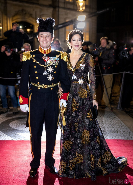 Federico y Mary de Dinamarca en la recepción de Año Nuevo 2019