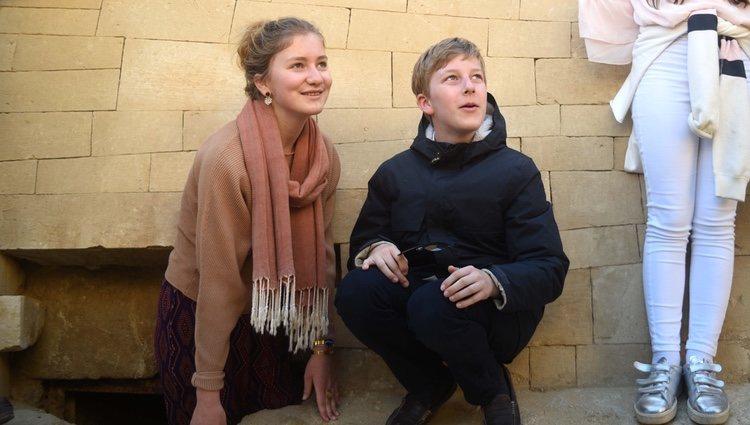 Isabel y Manuel de Bélgica divirtiéndose durante unas vacaciones en Egipto