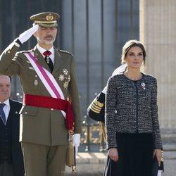 Los Reyes Felipe y Letizia presidiendo el acto de la Pascua Militar 2019
