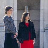 La Reina Letizia con Margarita Robles durante la Pascua Militar 2019