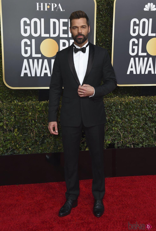 Ricky Martin en la alfombra roja de los Globos de Oro 2019