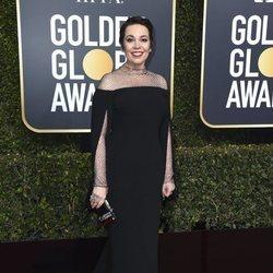 Olivia Colman en la alfombra roja de los Globos de Oro 2019