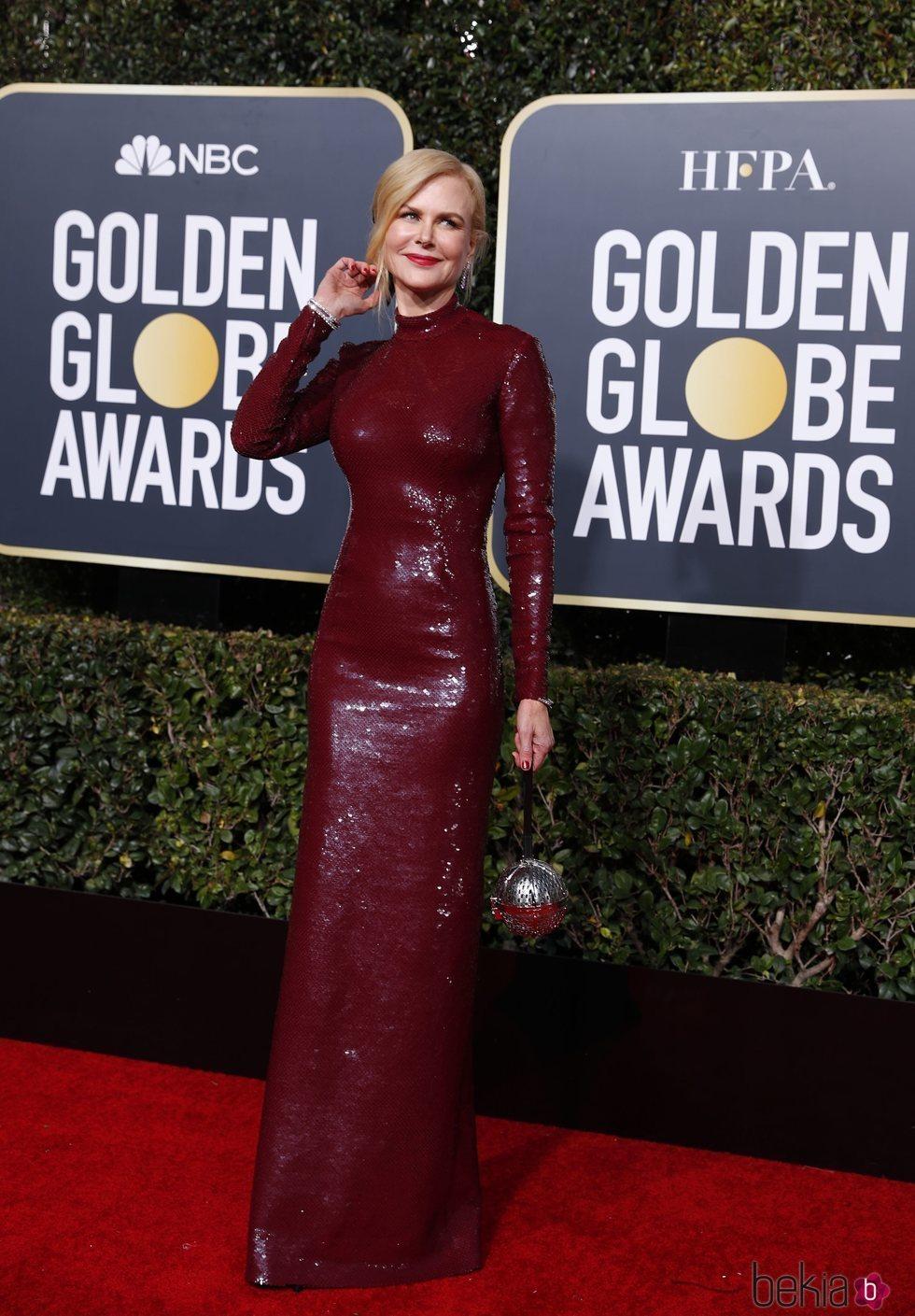 Nicole Kidman en la alfombra roja de los Globos de Oro 2019