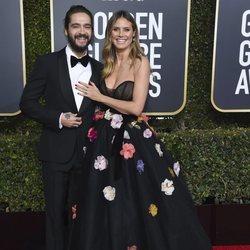 Heidi Klum y Tom Kaulitz en la alfombra roja de los Globos de Oro 2019