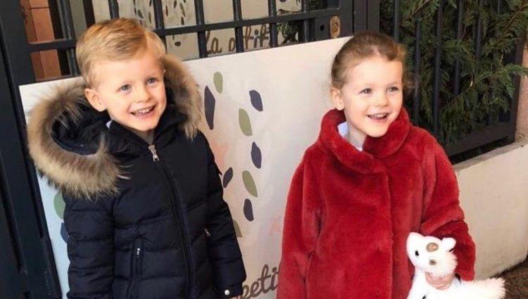 Jacques y Gabriella de Mónaco vuelven al colegio en 2019 tras las vacaciones