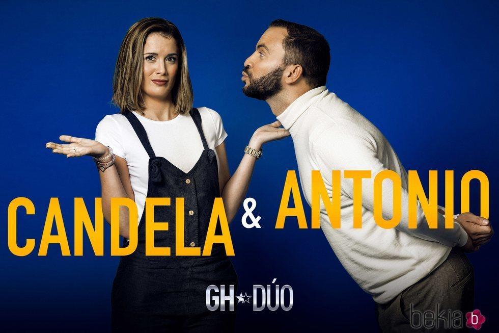 Antonio Tejado y Candela Acevedo en la fotografía promocional de 'GH Dúo'