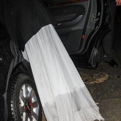 El vestido de Heidi Klum tras la fiesta de Warner Bros de los Globos de Oro 2019