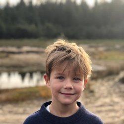 Vicente de Dinamarca en la celebración de su 8 cumpleaños