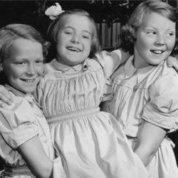 Las Princesas Irene, Margarita y Beatriz de Holanda cuando eran pequeñas