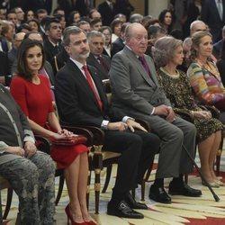 Los Reyes Felipe y Letizia, los Reyes Juan Carlos y Sofia, la Infanta Elena y la Infanta Pilar en los Premios Nacionales del Deporte 2017