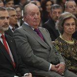 El Rey Felipe y los Reyes Juan Carlos y Sofía en los Premios Nacionales del Deporte 2017