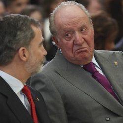 El Rey Felipe y el Rey Juan Carlos en los Premios Nacionales del Deporte 2017