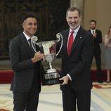 El Rey Felipe y Keylor Navas en los Premios Nacionales del Deporte 2017
