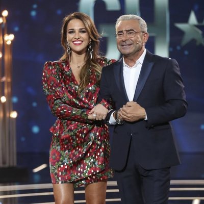 Paula Echevarría y Jorge Javier Vázquez en el plató de 'GH Dúo' durante la Gala 2
