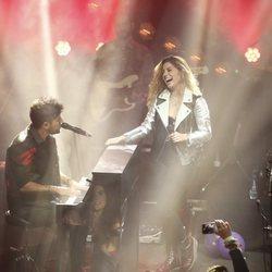 Pablo López y Miriam Rodríguez en Contigo Tour