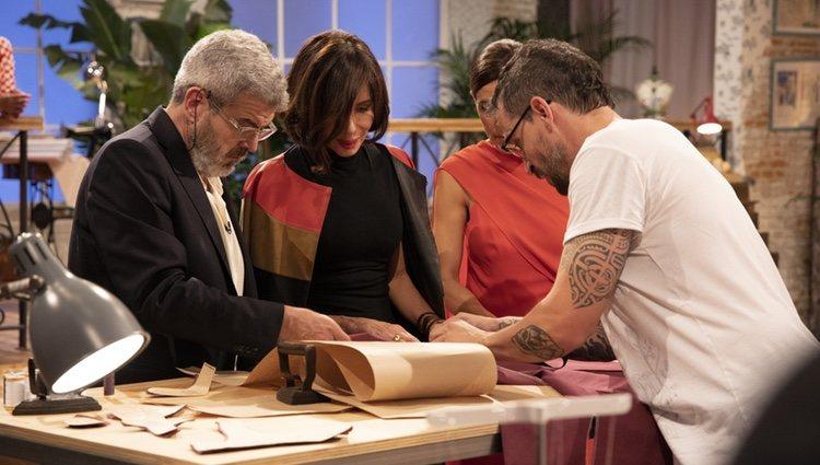 Lorenzo Caprile, Sybilla, Raquel Sánchez Silva y Toni en 'Maestros de la costura'