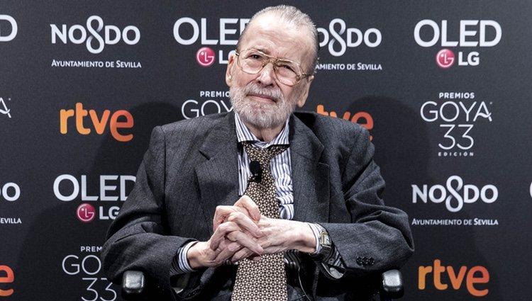 Narciso 'Chicho' Ibáñez en la fiesta de nominados de los Goya 2019