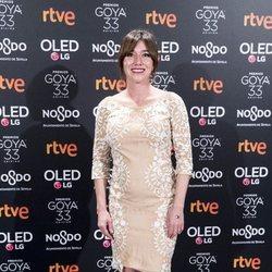Lola Dueñas en la fiesta de nominados de los Goya 2019