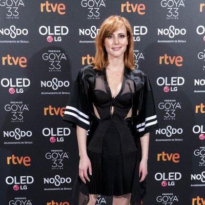 Natalia de Molina en la fiesta de nominados de los Goya 2019