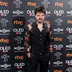 Coque Malla en la fiesta de nominados de los Goya 2019