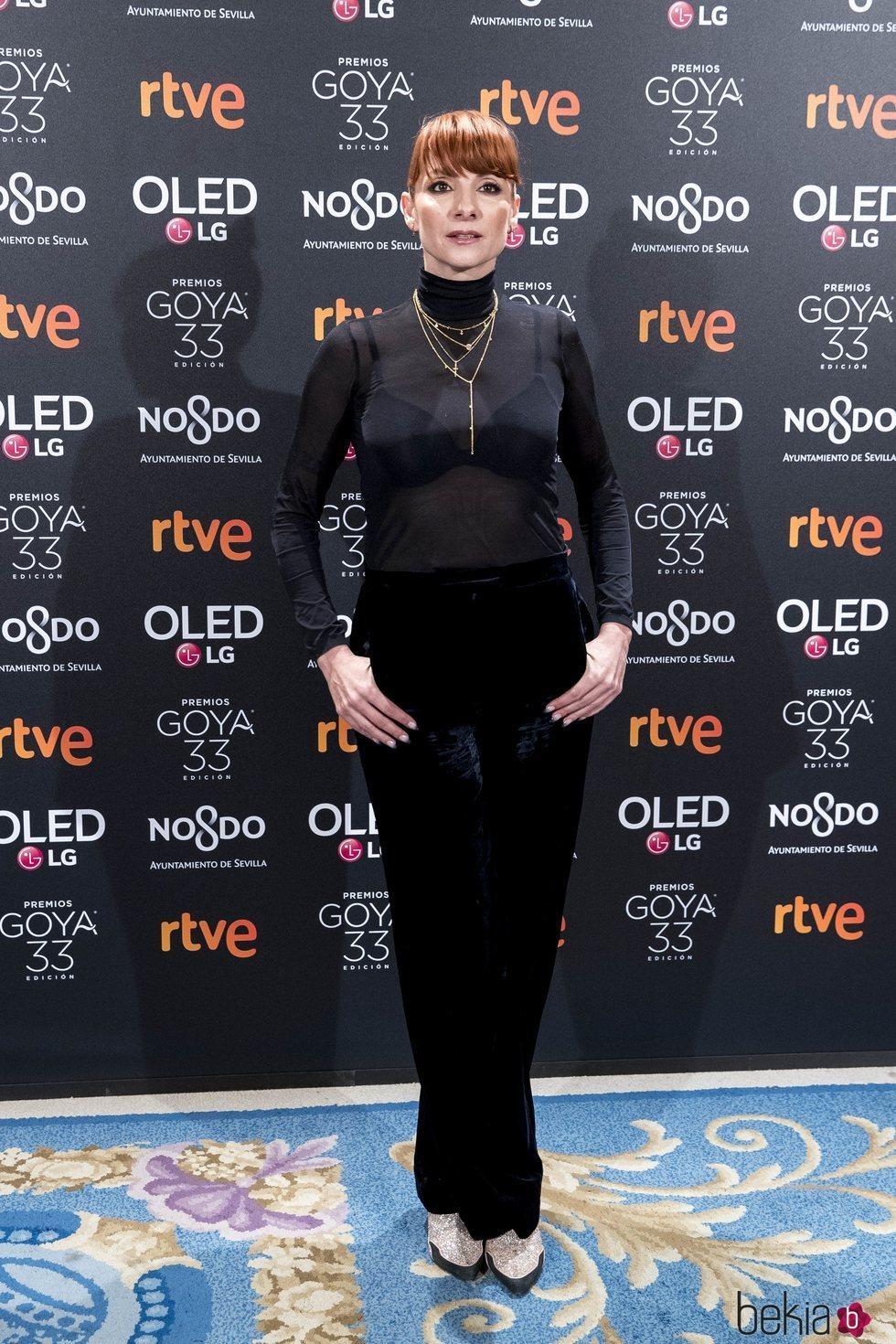 Najwa Nimri en la fiesta de nominados de los Goya 2019