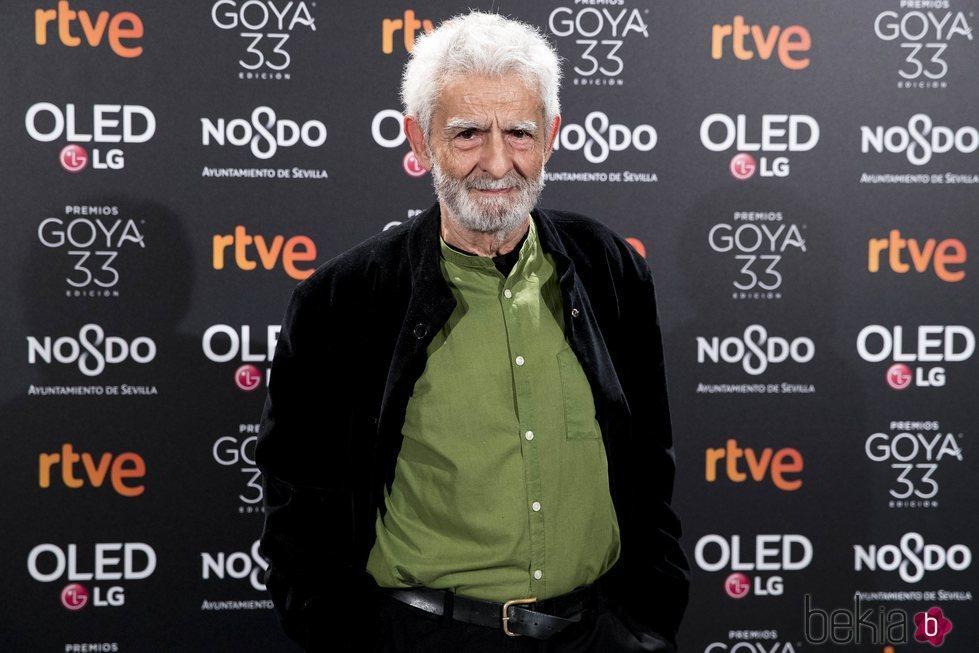 Juan Margallo en la fiesta de nominados de los Goya 2019
