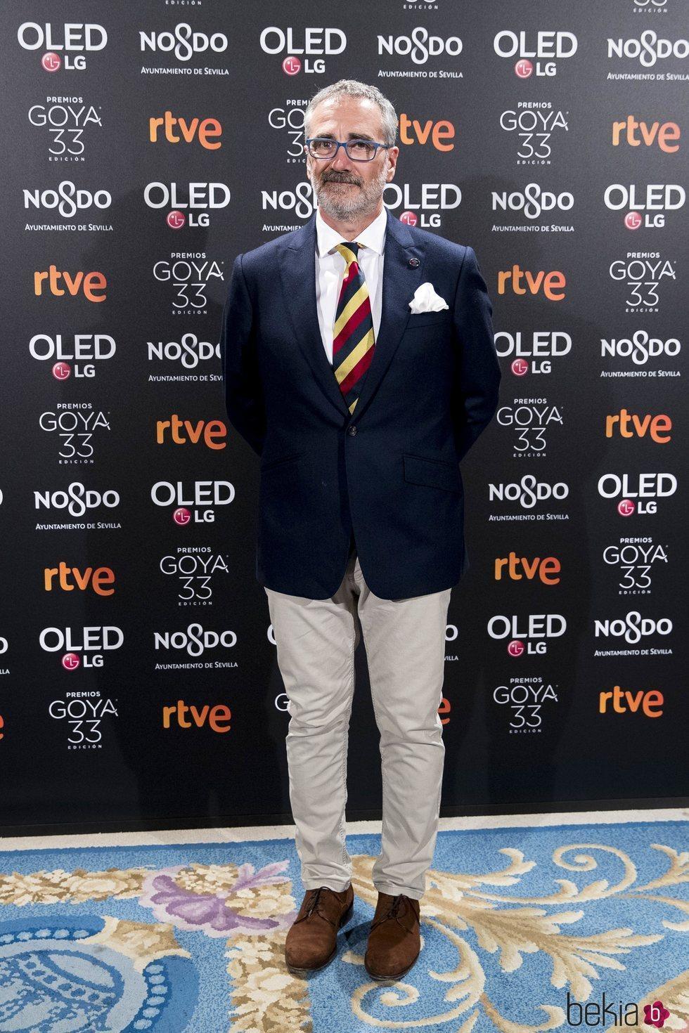 Javier Fesser en la fiesta de nominados de los Goya 2019