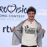 Miki posa como representante de España en Eurovisión 2019