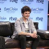 Miki en la rueda de prensa de Eurovisión 2019