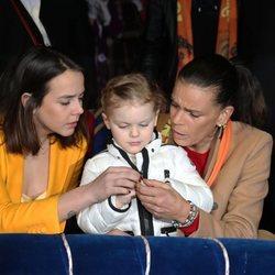 Pauline Ducruet y Estefanía de Mónaco muy cariñosas con la Princesa Gabriella