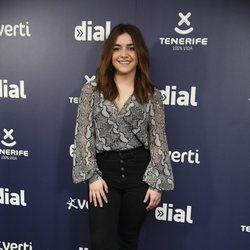 Marta Soto en la rueda de prensa de los Premios Cadena Dial 2019
