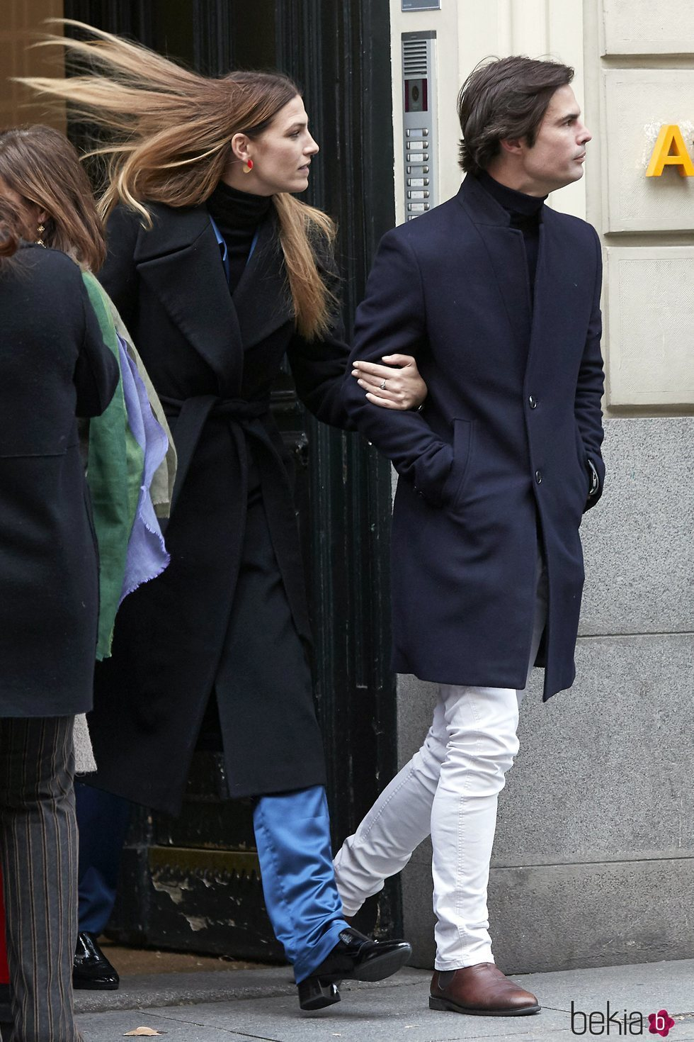 Curi Gallardo y Laura Sánchez agarrados del brazo