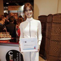 Isabel Jiménez luce embarazo como embajadora de Almería en FITUR 2019