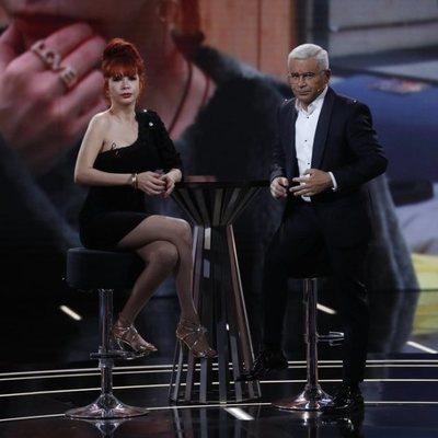Yurena con Jorge Javier Vázquez en el plató de 'GH DÚO'